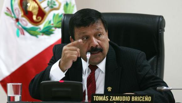 Tomás Zamudio dijo que en la bancada de Gana Perú hay consenso sobre el tema. (David Vexelman/Peru21)