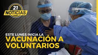 Este lunes vacunan a voluntarios de ensayo clínico Sinopharm