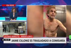 Jaime Cillóniz fue trasladado por la Policía a la comisaría de Miraflores