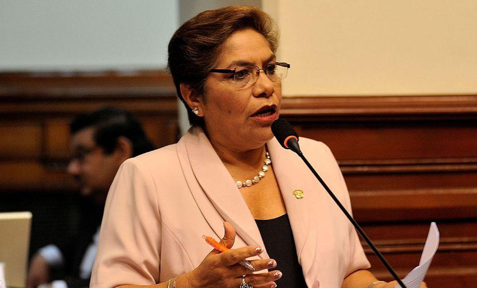 """""""¿Por qué el ministro Salvador del Solar está en este afán de responsabilizar por todo al Congreso?"""", cuestionó Luz Salgado. (Foto: GEC / Video: Congreso)"""