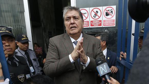 Como se recuerda, el dos veces jefe del Estado (1985 - 1990 / 2006 - 2011) permanece en el país desde noviembre cuando el Poder Judicial dictó un impedimento de salida por 18 meses en su contra. (Foto: GEC)