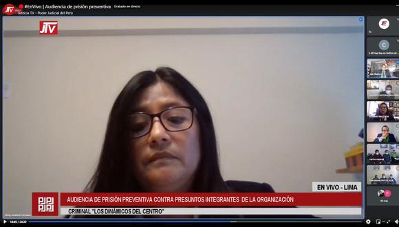 Magistrada July Baldeón evalúa pedido de prisión preventiva contra 20 investigados.  (Foto: Captura)