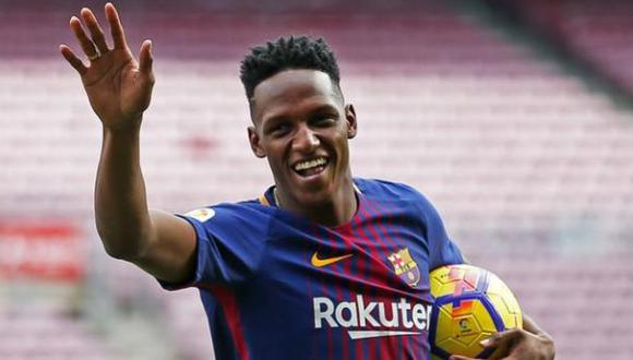Yerry Mina jugó apenas media temporada en Barcelona. (Foto: AFP)