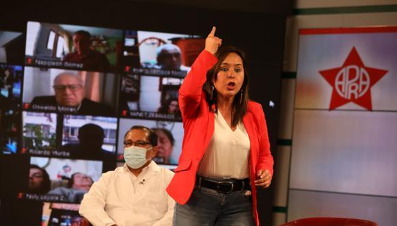 Nidia Vílchez quedó fuera de las Elecciones 2021 luego de que el Apra retirara su fórmula presidencial. (Foto: Britanie Arroyo / @photo.gec)