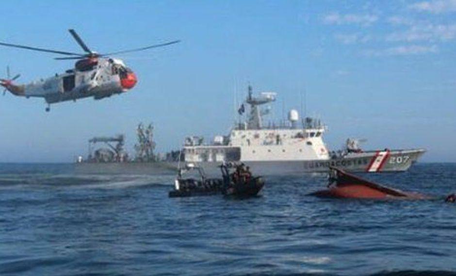 Según informe de la Marina de Guerra del Perú, la colisión ocurrió a 21 millas de costa, a la altura de Punta Negra. (Marina de Guerra del Perú)