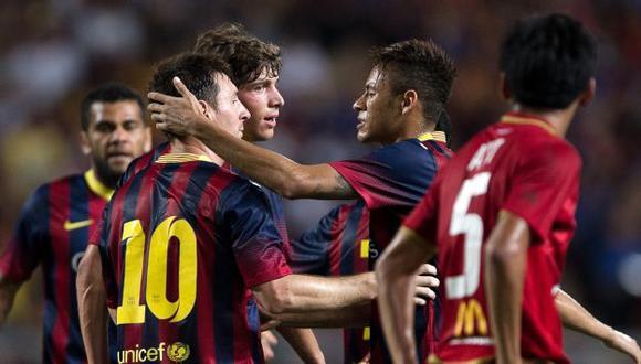 Neymar abrió la cuenta. (AFP)
