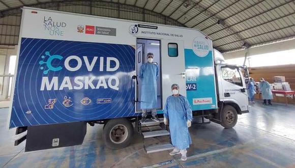 Madre de Dios: se realizarán pruebas moleculares tras la llegada de laboratorio móvil 'Covid Maskaq' (Foto: INS)