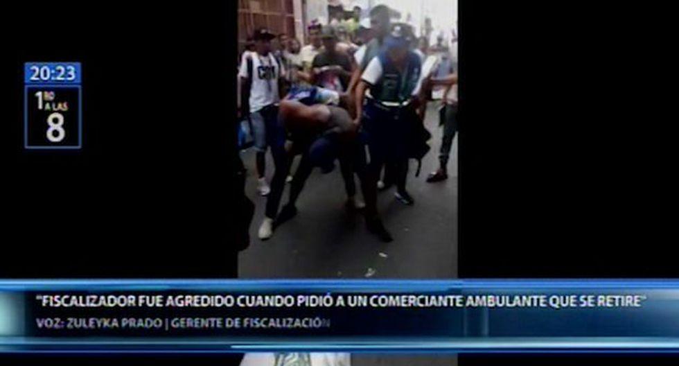 La Municipalidad de Lima informó que la agresión ya fue denunciada en la comisaría de Cotabambas y que el agente se encuentra bien de salud. (Foto: Canal N)