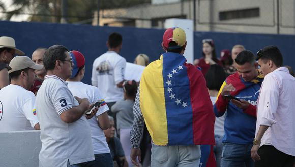 Los ciudadanos venezolanos en el Perú. (Foto: Hugo Pérez/El Comercio)