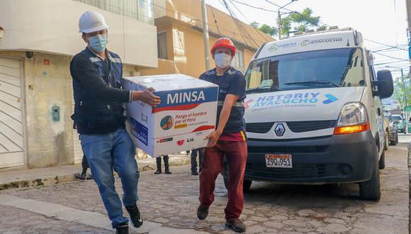 Ayacucho: la autoridad regional recordó que el primer lote de vacunas que recibieron fue de 3,103 dosis. (Foto: Gore Ayacucho)