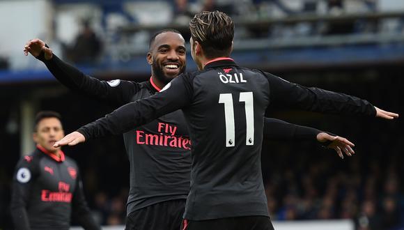 Arsenal se ubica a nueve puntos del líder de la Premier League. (AFP)