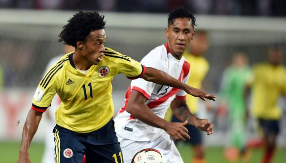 Perú y Colombia empataron 1-1 el pasado 10 de octubre en el Estadio Nacional, resultado que dejó fuera de Rusia 2018 a Chile. (AFP)