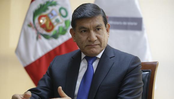 El ministro del Interior, Carlos Morán, dio detalles de la intervención de las autoridades en el corredor minero. (GEC)