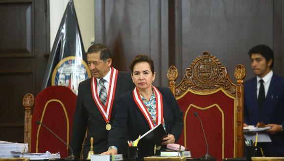 La jueza suprema Elvia Barrios preside la Sala Penal Especial de la Corte Suprema desde enero pasado. (Jesús Saucedo/GEC)