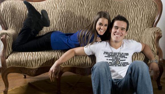Aurelio con su novia Chiara. (USI)