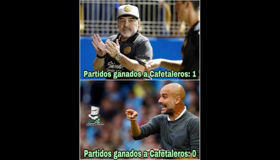 Los memes por la victoria de Dorados con Maradona de entrenador (Foto: Facebook).