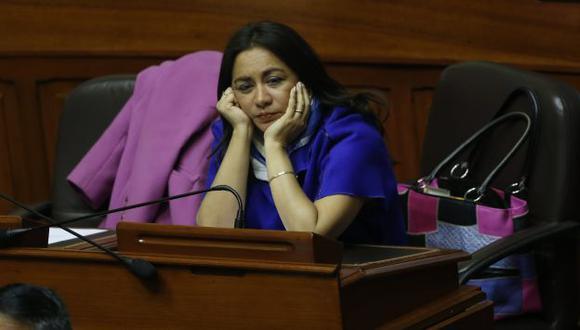 Nacionalismo insiste en desconocer renuncia de la legisladora Marisol Espinoza. (César Fajardo)