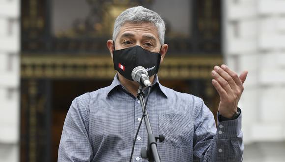 El ministro del Interior, José Elice, fue diagnosticado con coronavirus el 19 de mayo pasado. (Foto: Mininter)