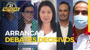 Debate JNE: Candidatos se juegan las últimas cartas