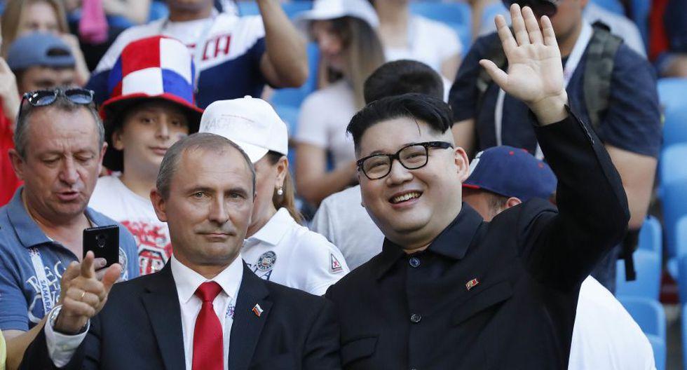 'Kim Jong-un' y 'Vladimir Putin' estuvieron en el  Samara Arena para disfrutar del partido Rusia vs. Uruguay.  (AP)