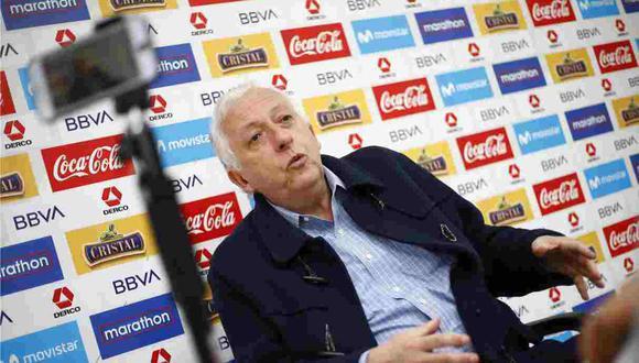 Antonio García Pye habló sobre el incidente tras el trabajo de la selección peruana. (Foto: GEC)