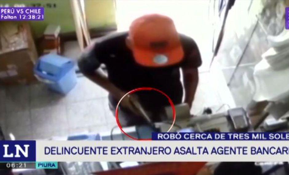Robo se produjo en agente bancario de Piura. (Foto: Latina)