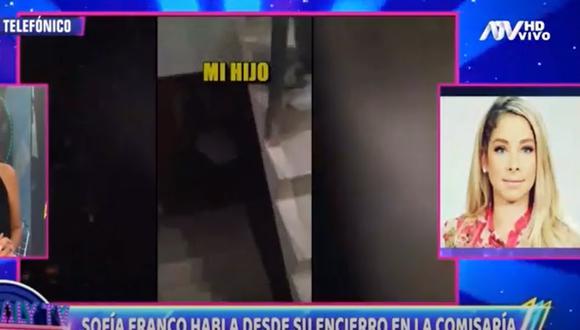 Sofía Franco habló con Magaly Medina sobre su situación legal. (Foto: Captura ATV).