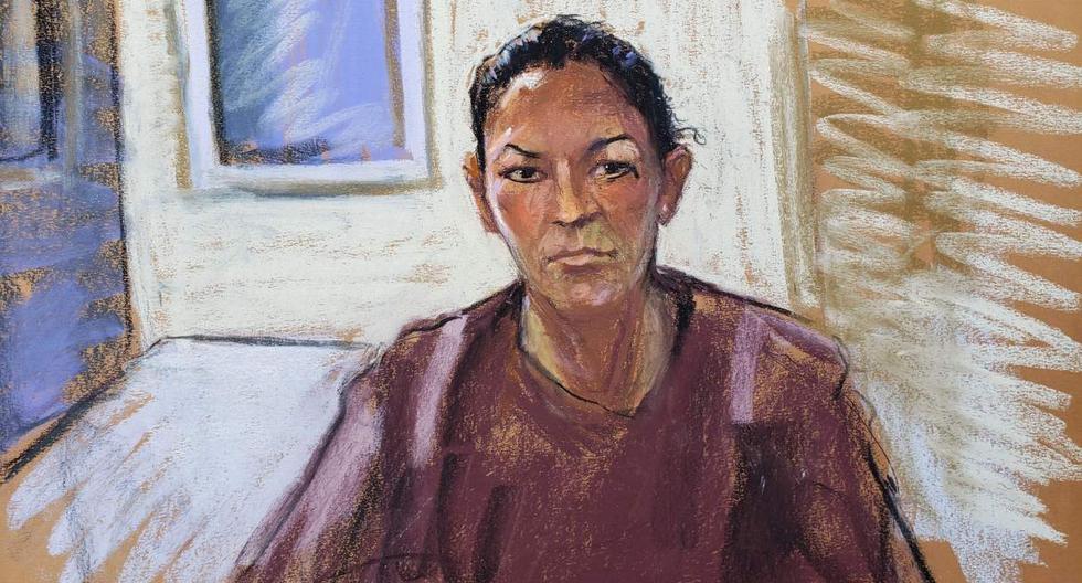 Ghislaine Maxwell, exnovia de Jeffrey Epstein, aparece a través de un enlace de video durante su audiencia en la ciudad de Nueva York (Estados Unidos). (REUTERS/Jane Rosenberg).