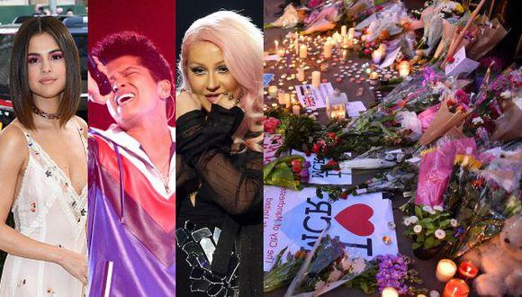 Artistas se solidarizan con las víctimas del atentado en Manchester, y la gente deja flores en el lugar del ataque. (Getty/EFE)