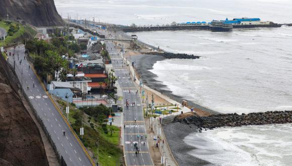 """La iniciativa """"Domingo sin Autos"""" en la Costa Verde es suspendida por tiempo indefinido. Foto: MML"""