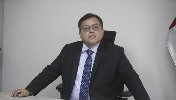 """""""Lamento la renuncia porque Amado [Enco] es un buen procurador, así como muchos otros procuradores y procuradoras que hay en el sistema"""", señaló Daniel Soria. (Foto: GEC)"""