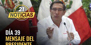 Coronavirus en Perú: Mensaje a la nación del presidente Martín Vizcarra día 39