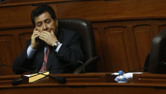Parlamentario consideró que los cuestionamientos en su contra son simples cuestiones del azar. (C. Fajardo)