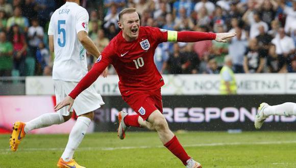 Wayne Rooney es el goleador histórico de la selección de Inglaterra, con 53 anotaciones. (Foto: AP)