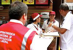 Se formalizaron a más de 100 mil trabajadores entre enero y agosto, según la Sunafil