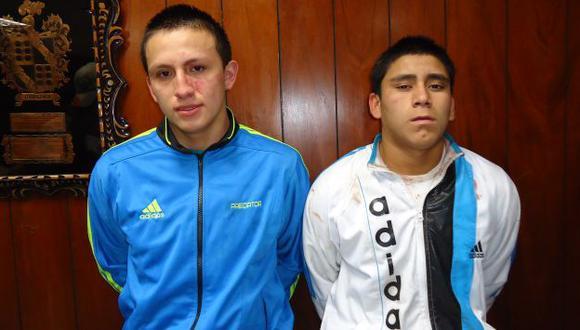 Criminales 'Gringasho' y 'Bacacha' son considerados de alto riesgo social, según el examen policial. (USI)