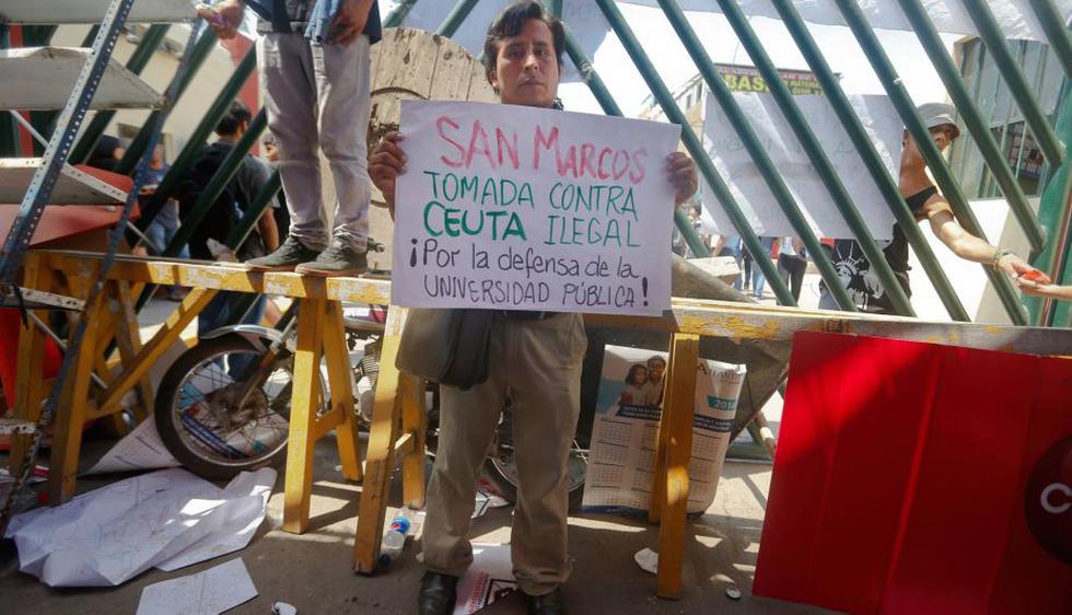 Roberto Huaraca, presidente de la Federaciòn Universitaria de San Marcos. (Atoq Ramón/Perú21)