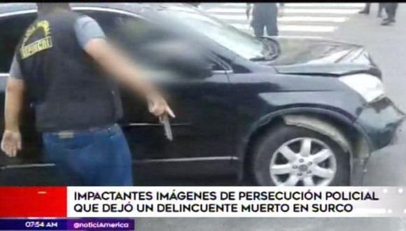 Las imágenes de la persecución son impresionantes. (Foto: Captura/América Noticias)