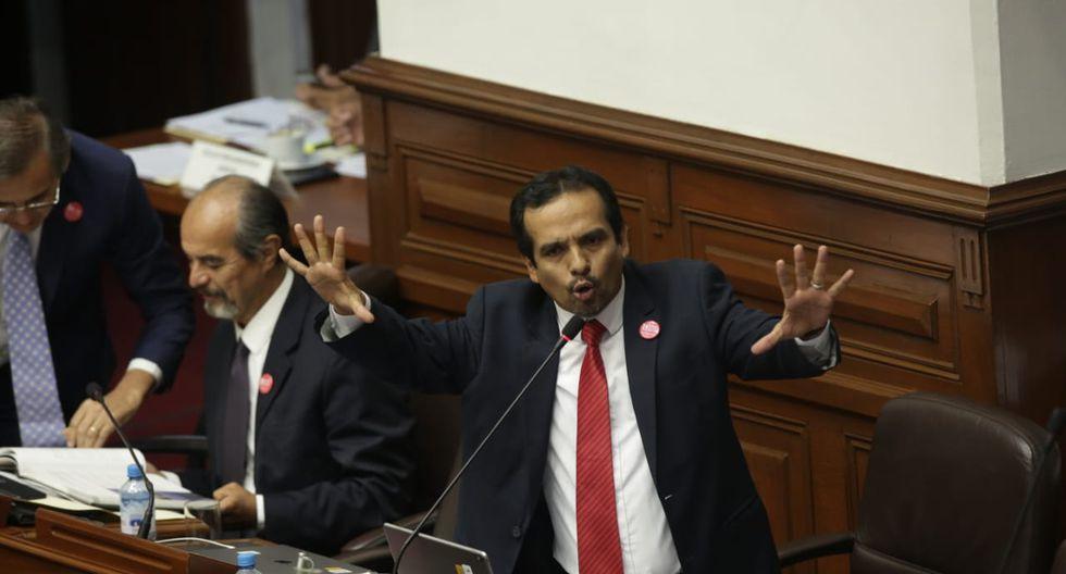 El congresista Humberto Morales (Frente Amplio) sostuvo que la intención de interpelar a Vicente Zeballos es bajarse el acuerdo con Odebrecht. (Foto: Anthony Niño De Guzmán / GEC)