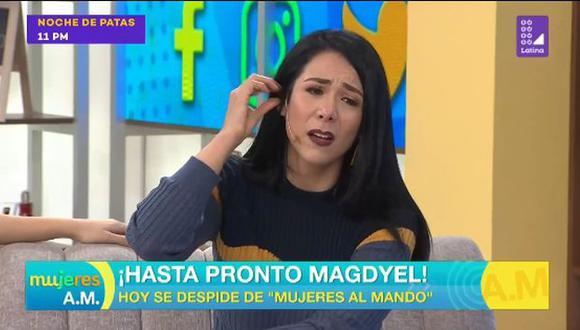 """Magdyel Ugaz deja la conducción del programa """"Mujeres Al Mando"""". (Foto: Captura de video)"""