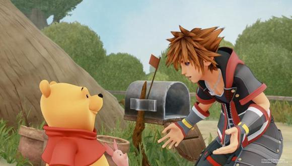 Winnie the Pooh junto a Sora, protagonista de la saga Kingdom Hearts. (Difusión: Square Enix)