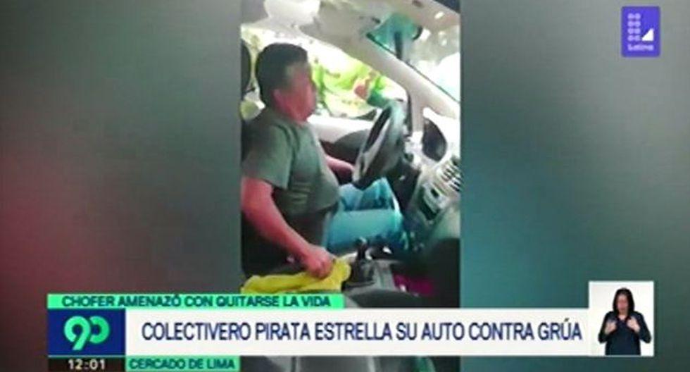 Víctor Lecca Ramos fue trasladado a la comisaría Petit Thouars por protagonizar un accidente de tránsito. (Foto: Captura de video / 90 Matinal)
