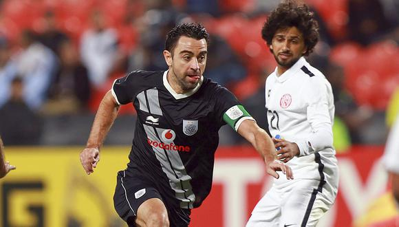 Xavi Hernández, una de las figuras de la liga de Catar. (Foto: AFP)