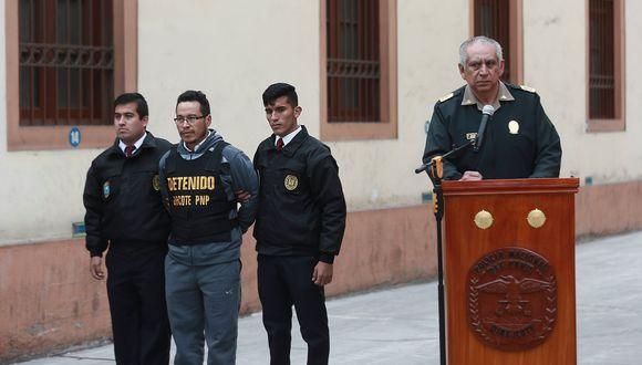 El detenido fue capturado en Huánuco el 12 de agosto y luego trasladado a la Dircote.