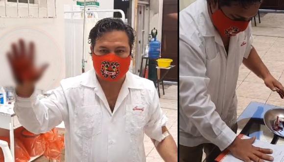 Alcalde de Moche envía carta a presidente Martín Vizcarra y la firma con su sangre | VIDEO