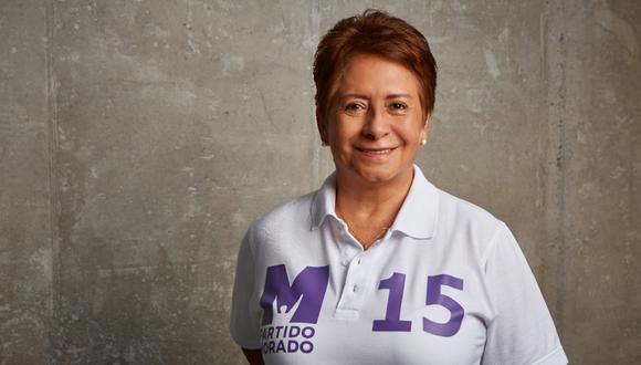 Susana Chávez postula al Parlamento con el Nº 15 en la lista de Lima por el Partido Morado.