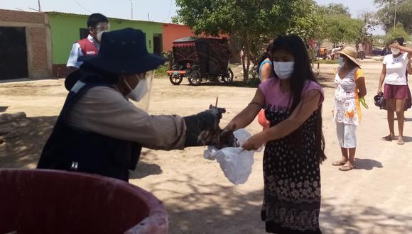 Lambayeque: donaron más de 1 tonelada de pescado en Mórrope y Olmos por Semana Santa (Foto: Gore Lambayeque)