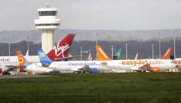 Pasajeros se quejaron a través de sus redes sociales de que sus vuelos aterrizaron en Heathrow, Manchester, Birmingham y aeropuertos de otras ciudades. (Foto referencial: AP).