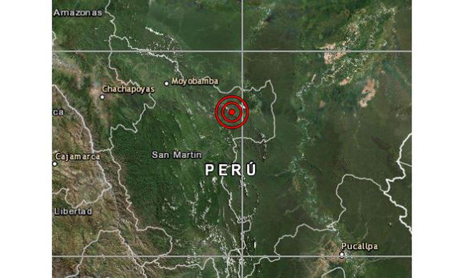 De acuerdo al IGP, el epicentro de este movimiento telúrico se registró a 34 km al este de Tarapoto, en San Martín. (Foto: IGP)