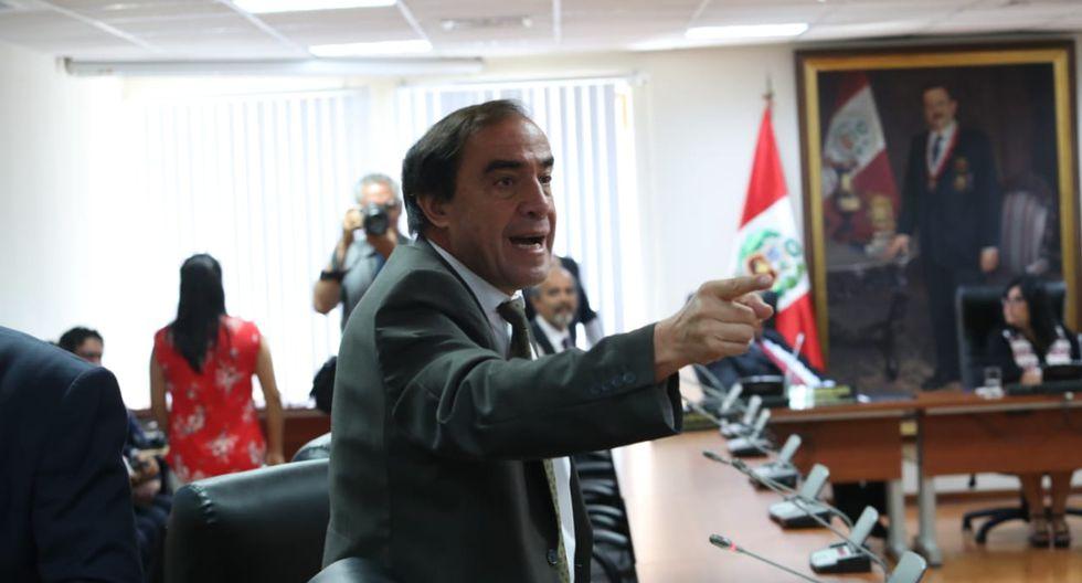 """El congresista Yonhy Lescano reiteró que """"mentiras sustentan el informe de la comisión de ética"""". (Foto: GEC)"""